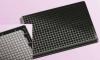Планшеты 384-луночные Krystal UV черные, объем лунки 120 мкл, COP-прозрачное дно, без крышки, не стерильные