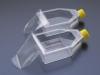 Флаконы культуральные, 150 см2, стенка с клеящейся пленкой, скошенное горло, крышка с гидрофобным фильтром 0,22 мкм, PS, стерильные.
